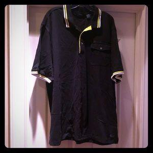 Black Sean Jean shirt w/ yellow and white trim 3XL